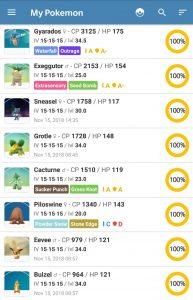 all 100 iv pokemon