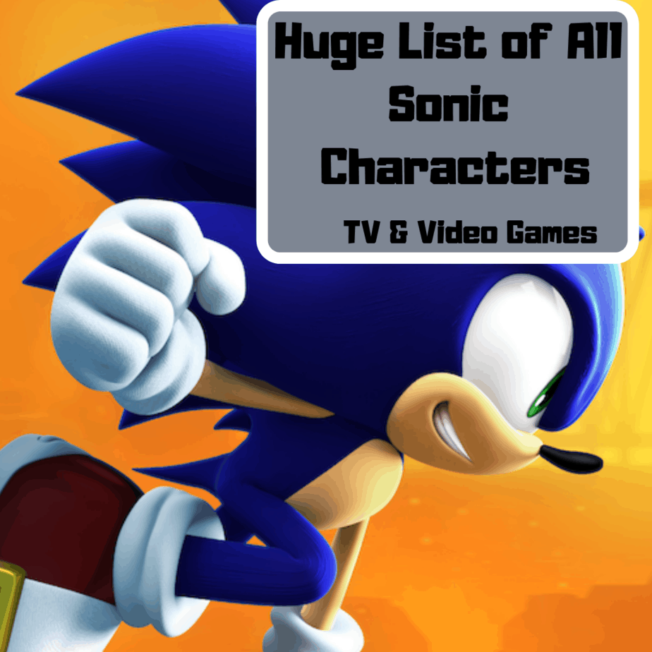 Allsonicgames Net huge list of sonic characters(tv and video games)   gamer's