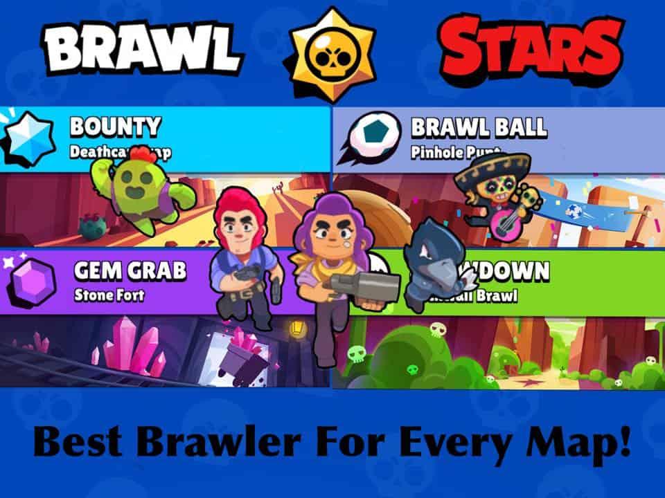 brawl stars best brawlers per map