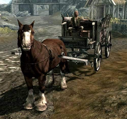 skyrim carriage to fast travel to all main cities