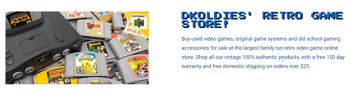 dkoldies website sell video games online for cash