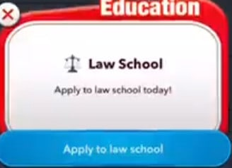 bitlife becoming a lawyer - law school