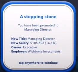 managing director promotion bitlife