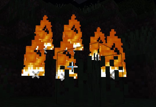 flame arrows when fired